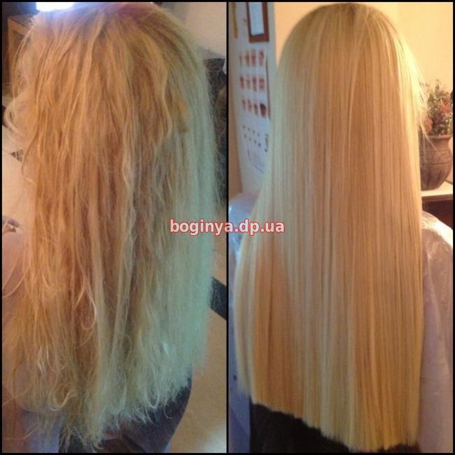 Наращивание волос на пушистые волосы